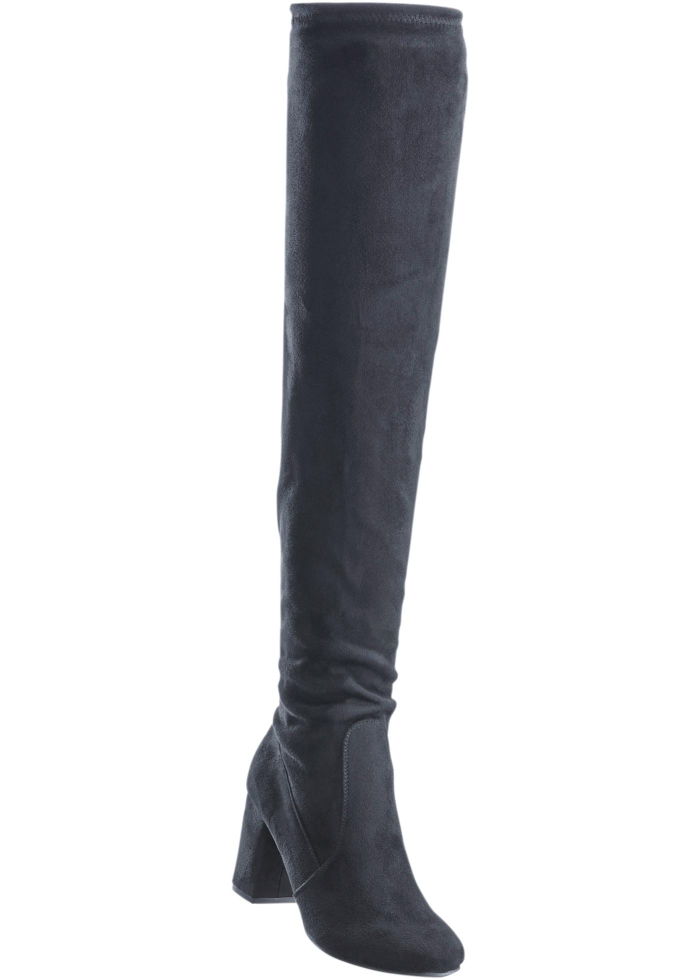 2ab56a706a6af BODYFLIRT Bonprix - Cuissardes noir pour femme - Glami.fr