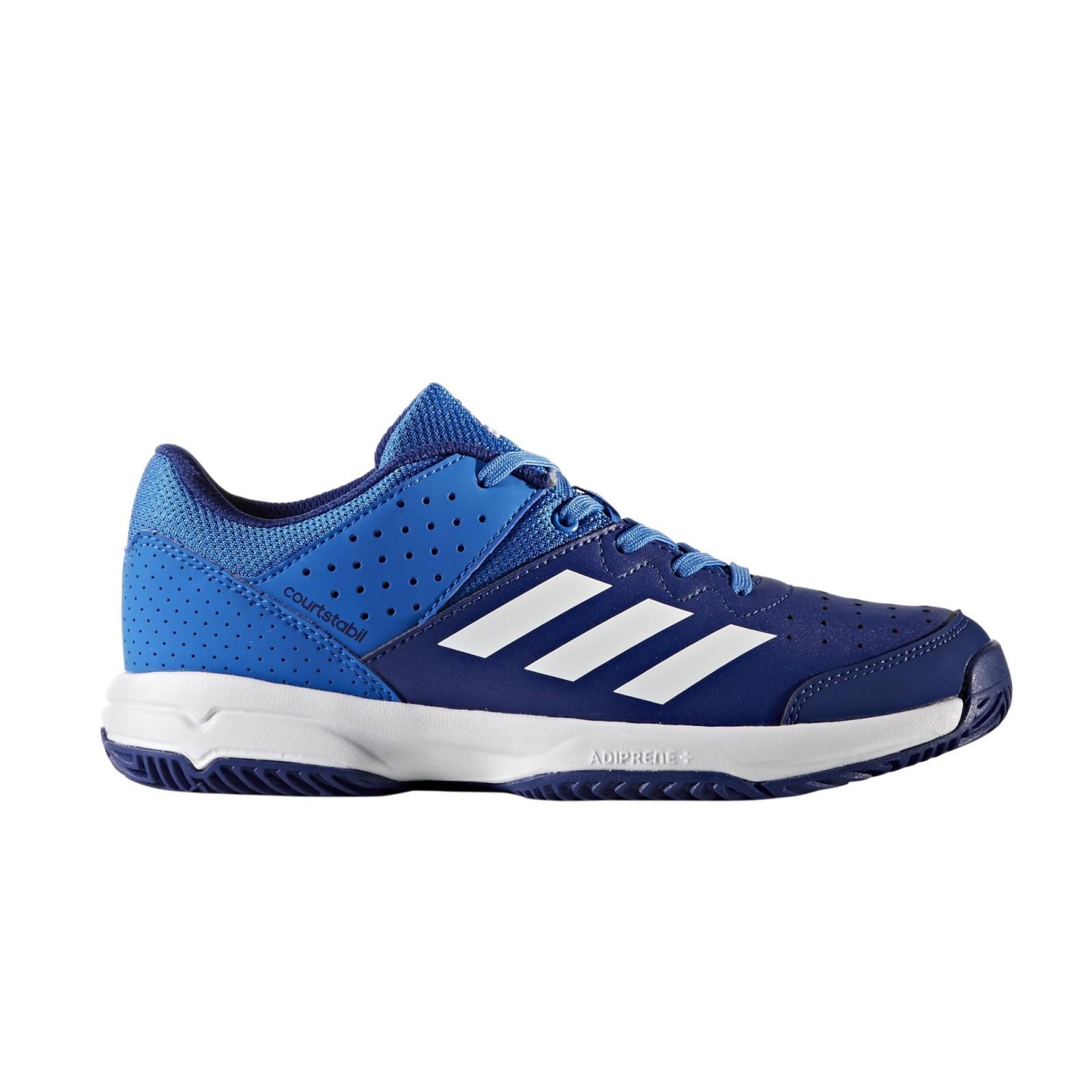 Dětská sálová obuv adidas Performance COURT STABIL JR BLUE FTWWHT MYSINK. Dětská  sálová obuv adidas ... e3b248767c