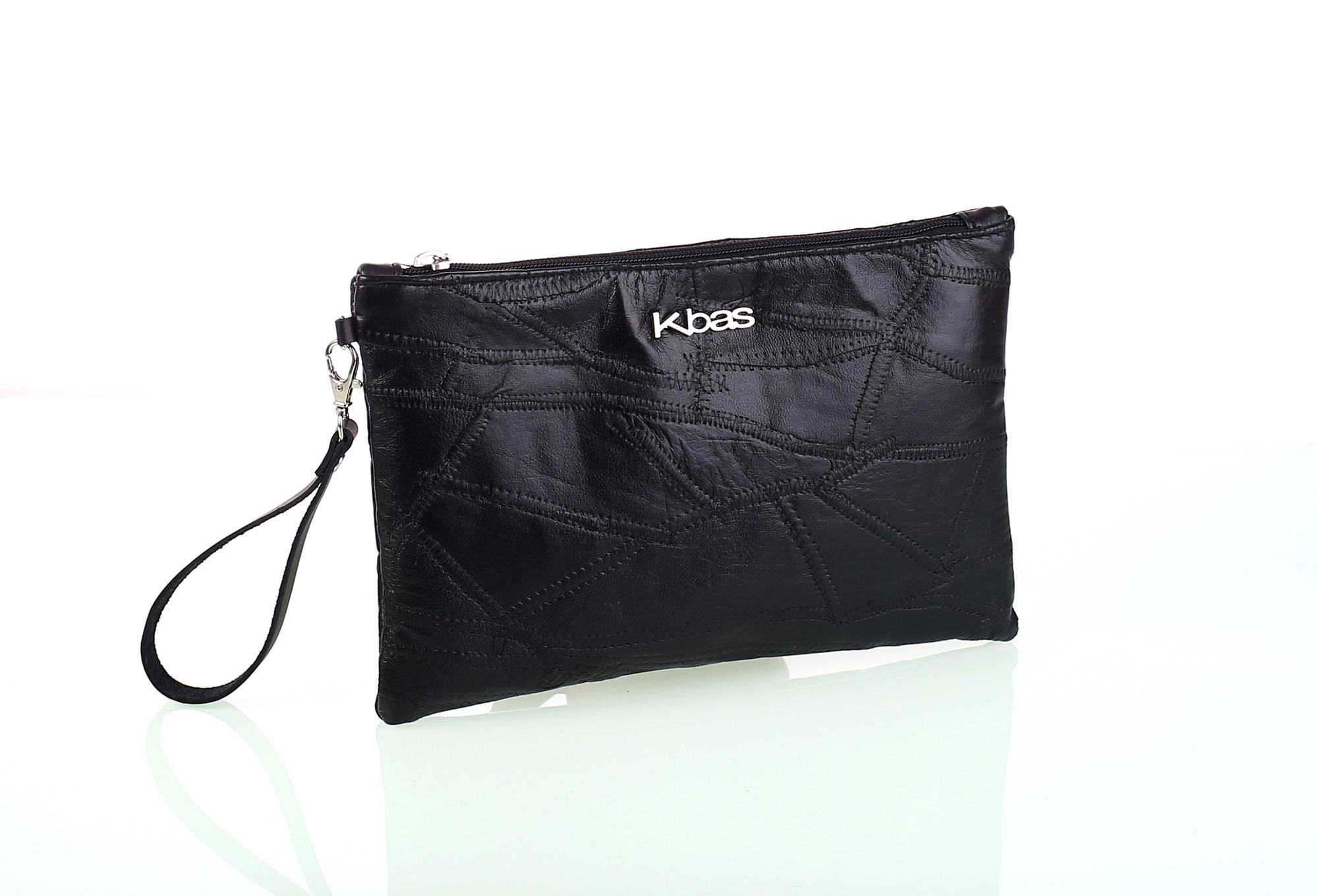 Dámska listová kožená kabelka Kbas čierna - Glami.sk a34a35f4e78