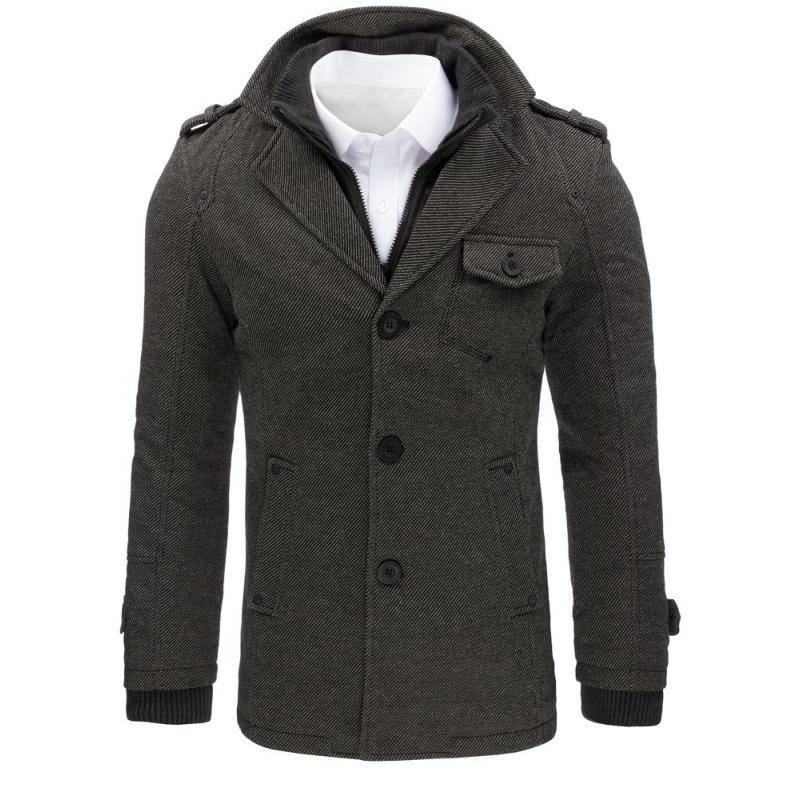 285527af1b Manstyle Férfi szürke kabát - Glami.hu