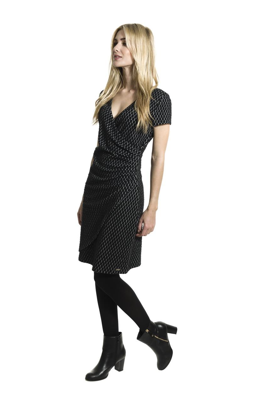bbd329316e7b Smash AVELINA krátké šaty černé se vzorem - Glami.cz