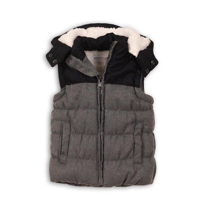 Minoti KID 7 Vesta chlapčenská zimná prešívaná s kapucňou - Glami.sk 75ef783ab61