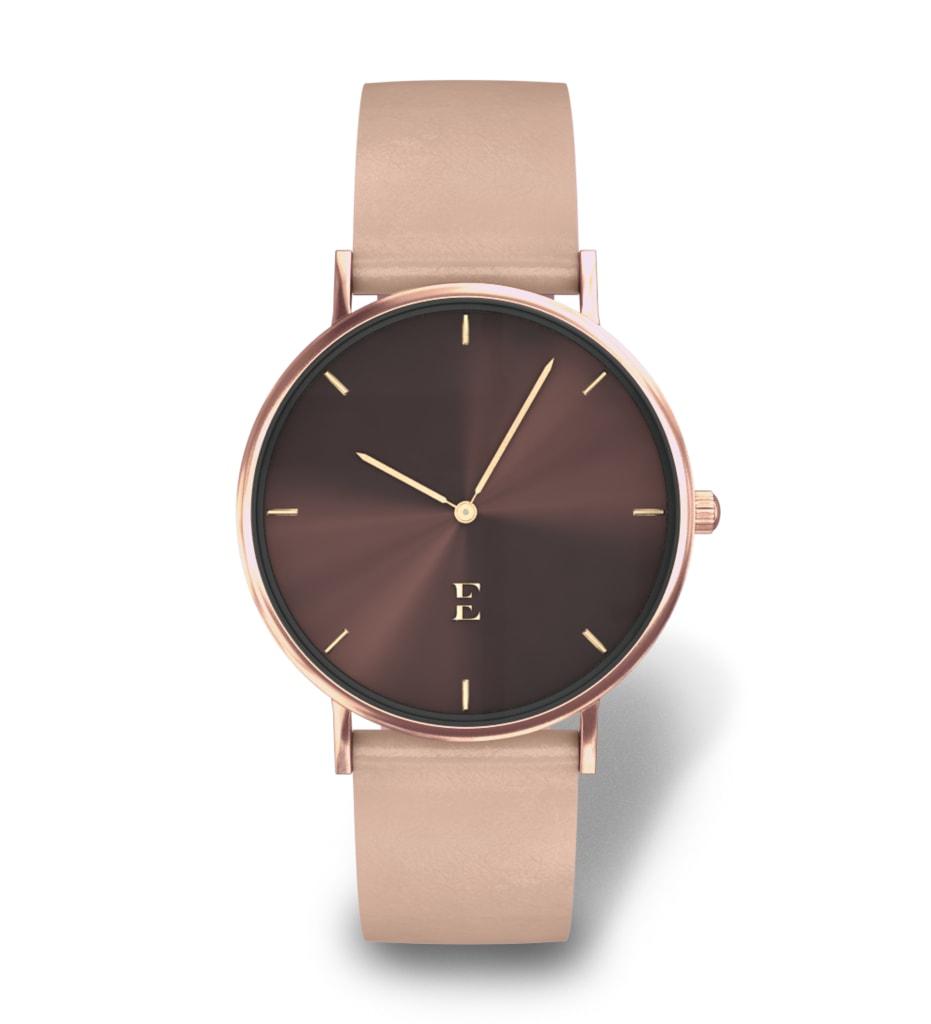Kožené dámské hodinky Esoria Alys Pure Rose - Glami.cz 581eb95c3a