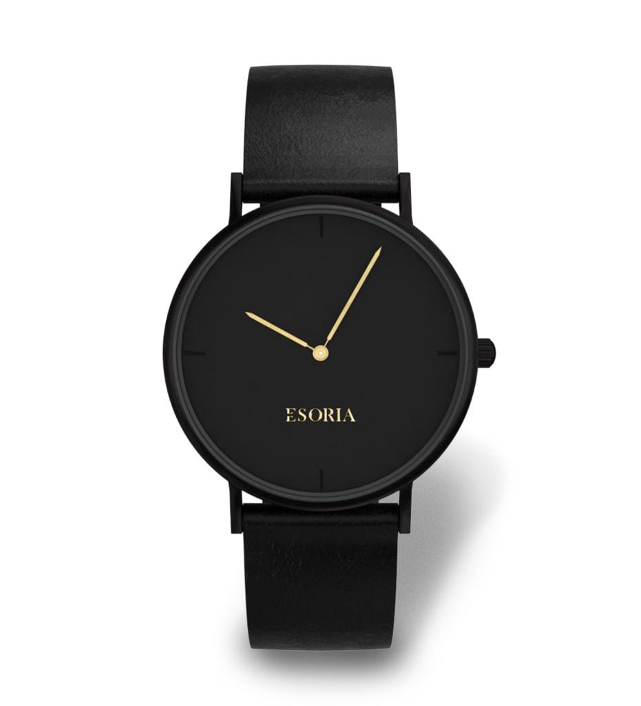 Černé dámské hodinky Esoria Alys Dim - Glami.cz 42a64b5b00