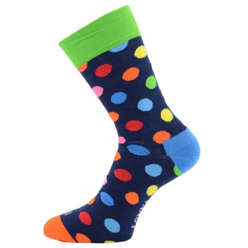2bf09d4dab3 Lonka luxusní barevné puntíkované ponožky - Glami.cz