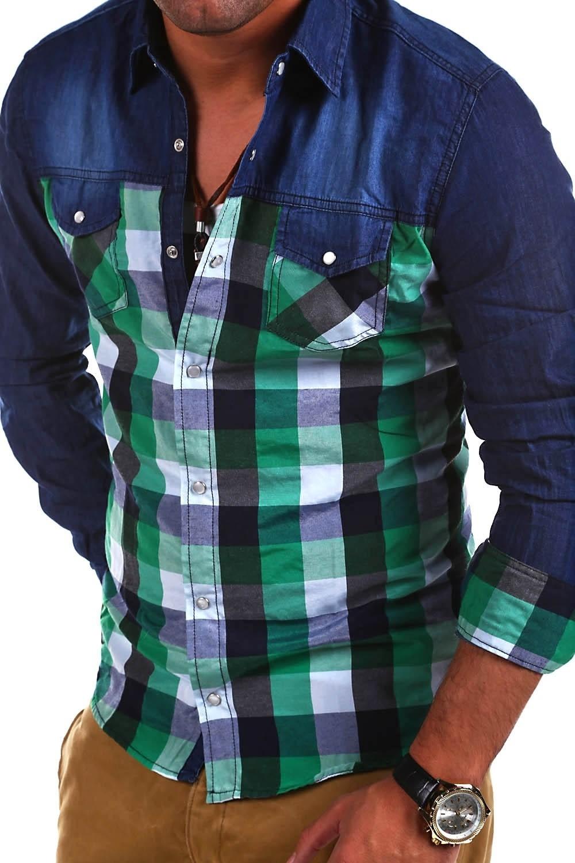 Pánská kostkovaná košile Behype model BH-251 - Glami.cz 3692f3a264