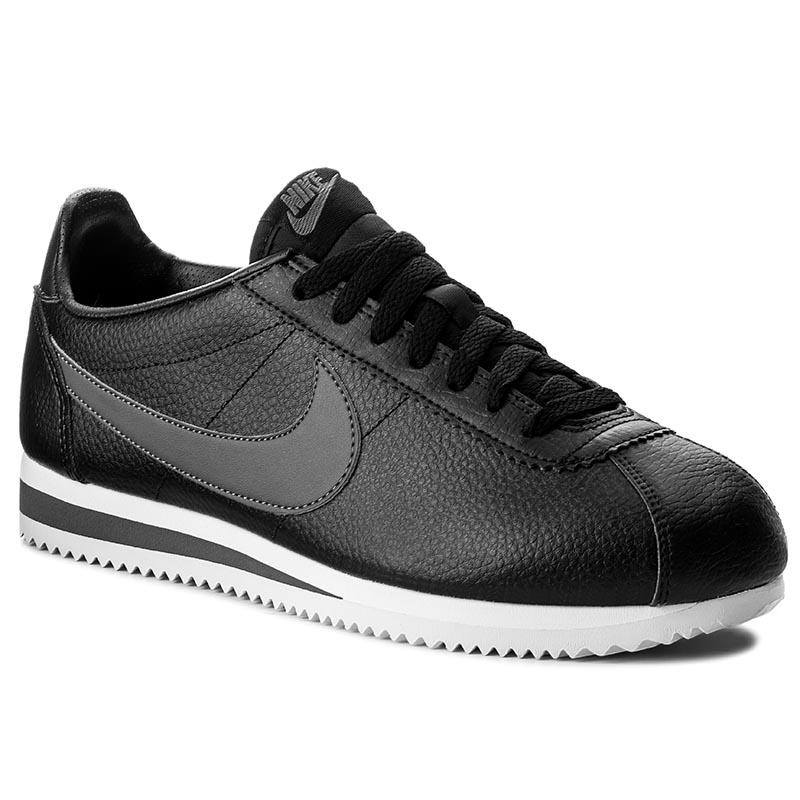 Topánky NIKE - Classic Cortez Leather 749571 011 Black Dark Grey White dad7545b5fc