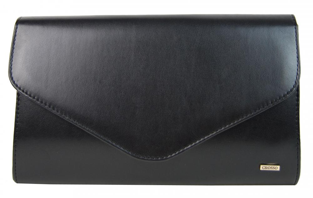 65c785c77e Čierna matná spoločenská listová kabelka SP102 GROSSO