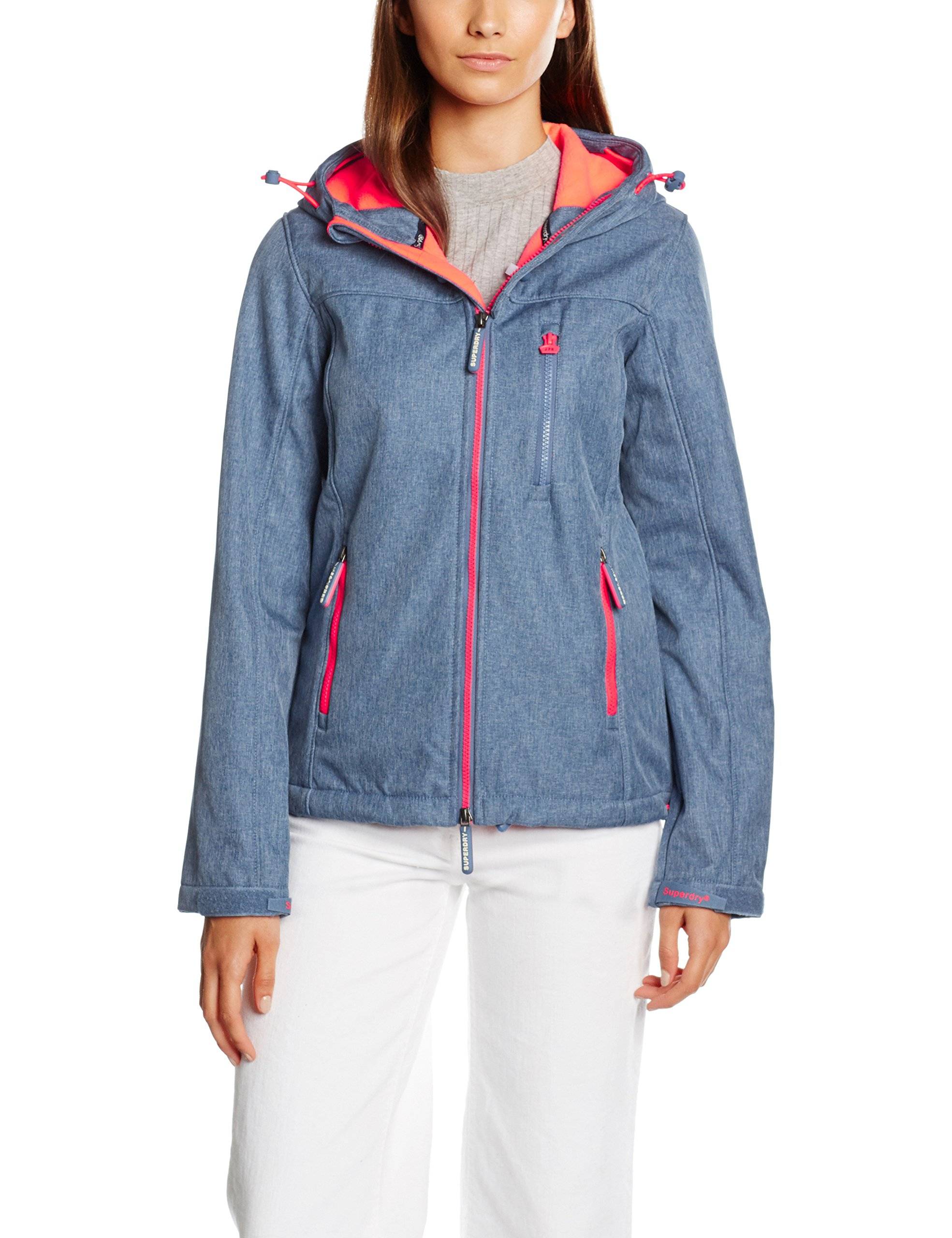 Imperméable Blu Small Marl Veste Superdry Windtrekker Femme Hooded Cherry fluro navy FawBP