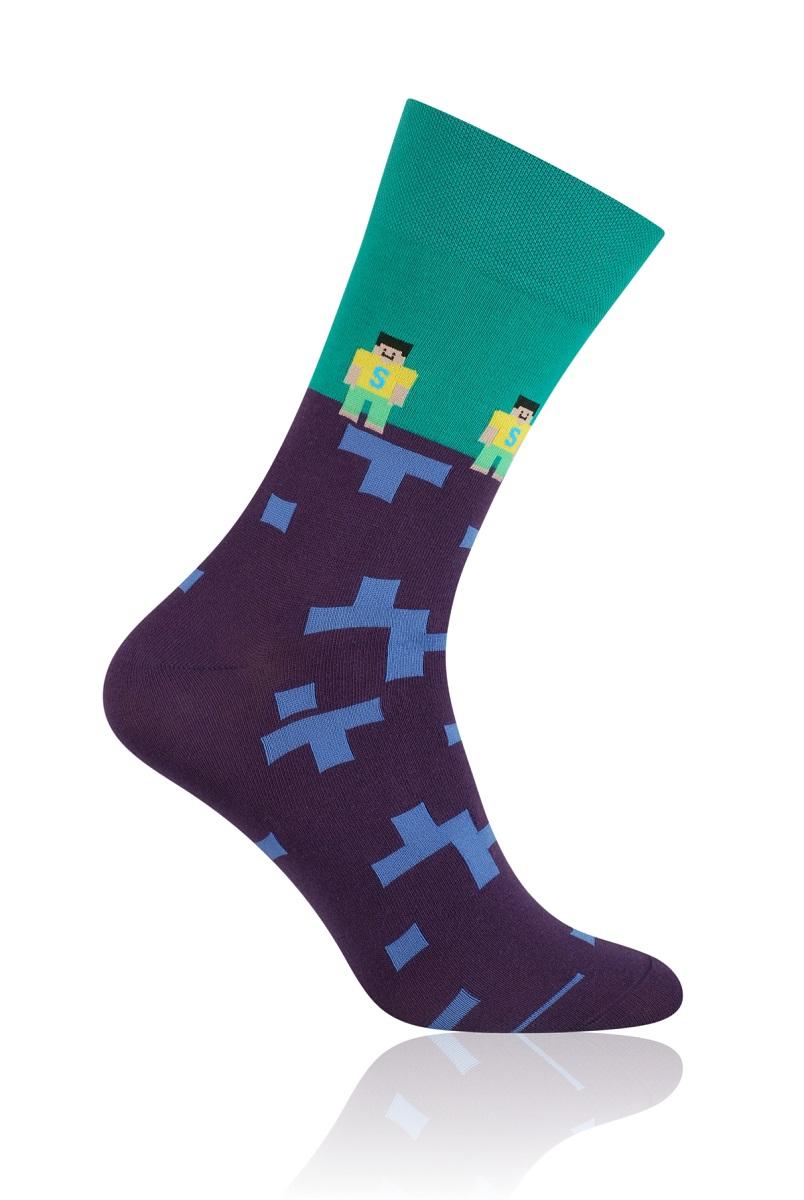 More Fashion Pánské Ponožky Tetris zelená - Glami.cz 69ba6c9ea4