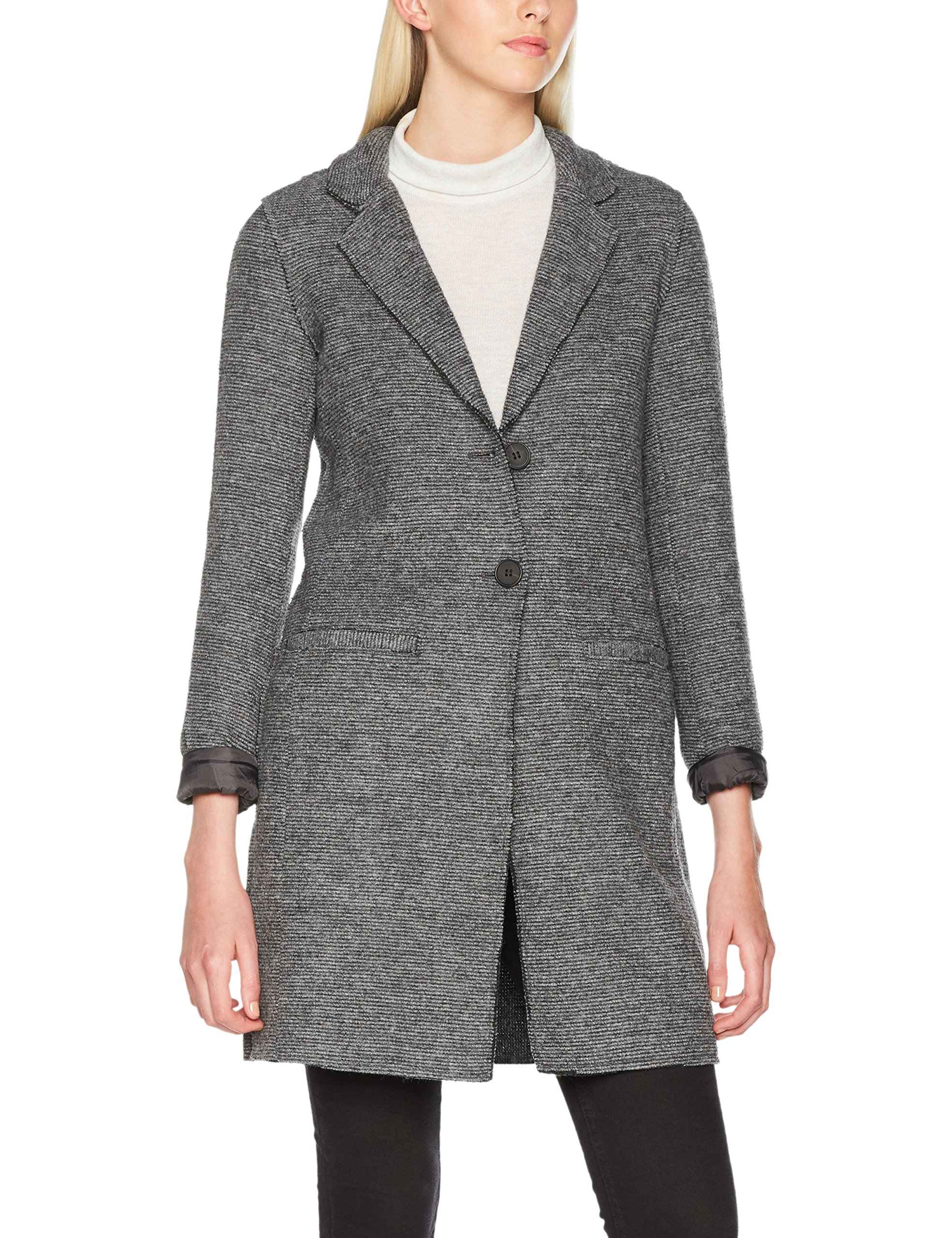 Only Damen Mantel Onlnew Ella Wool Coat Cc Otw Grau Medium Grey