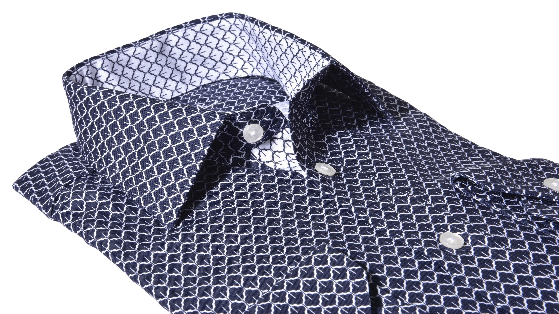 2a3c073f1267 Alain Delon LUXURY LINE tmavomodrá Extra Slim Fit košeľa - Glami.sk