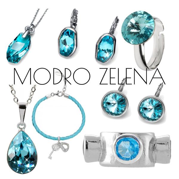 modro zelená (šperky)