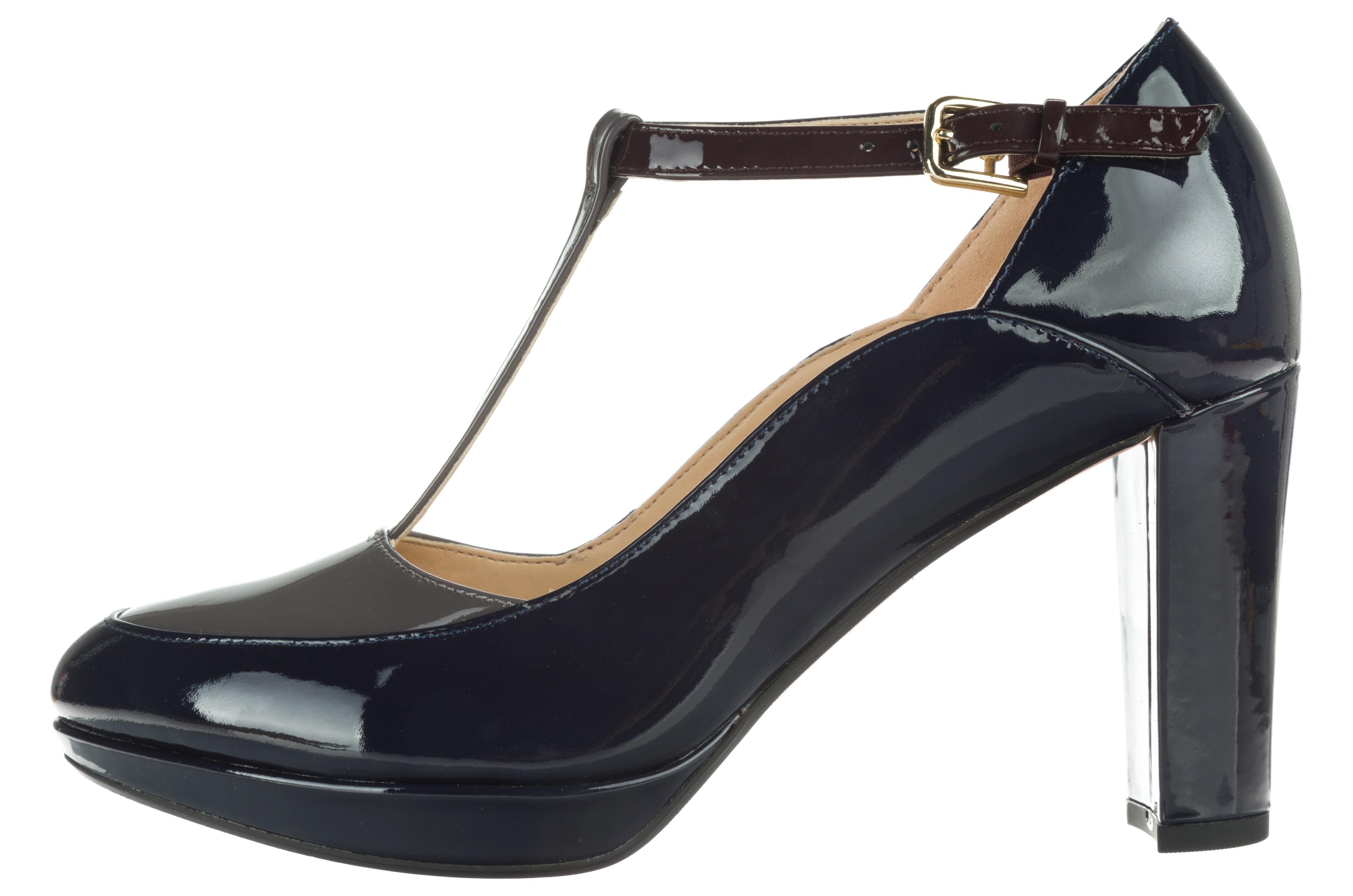 Női Clarks Kendra Daisy Magassarkú cipő Kék - Glami.hu 286ec1024e
