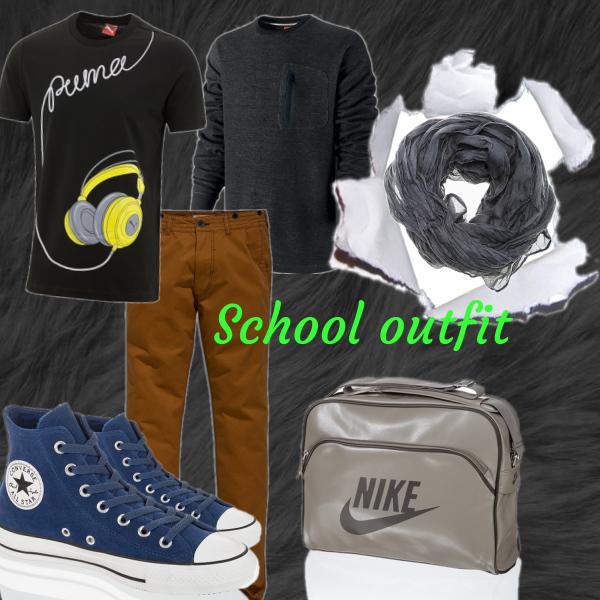 pohodlný outfit do školy :)