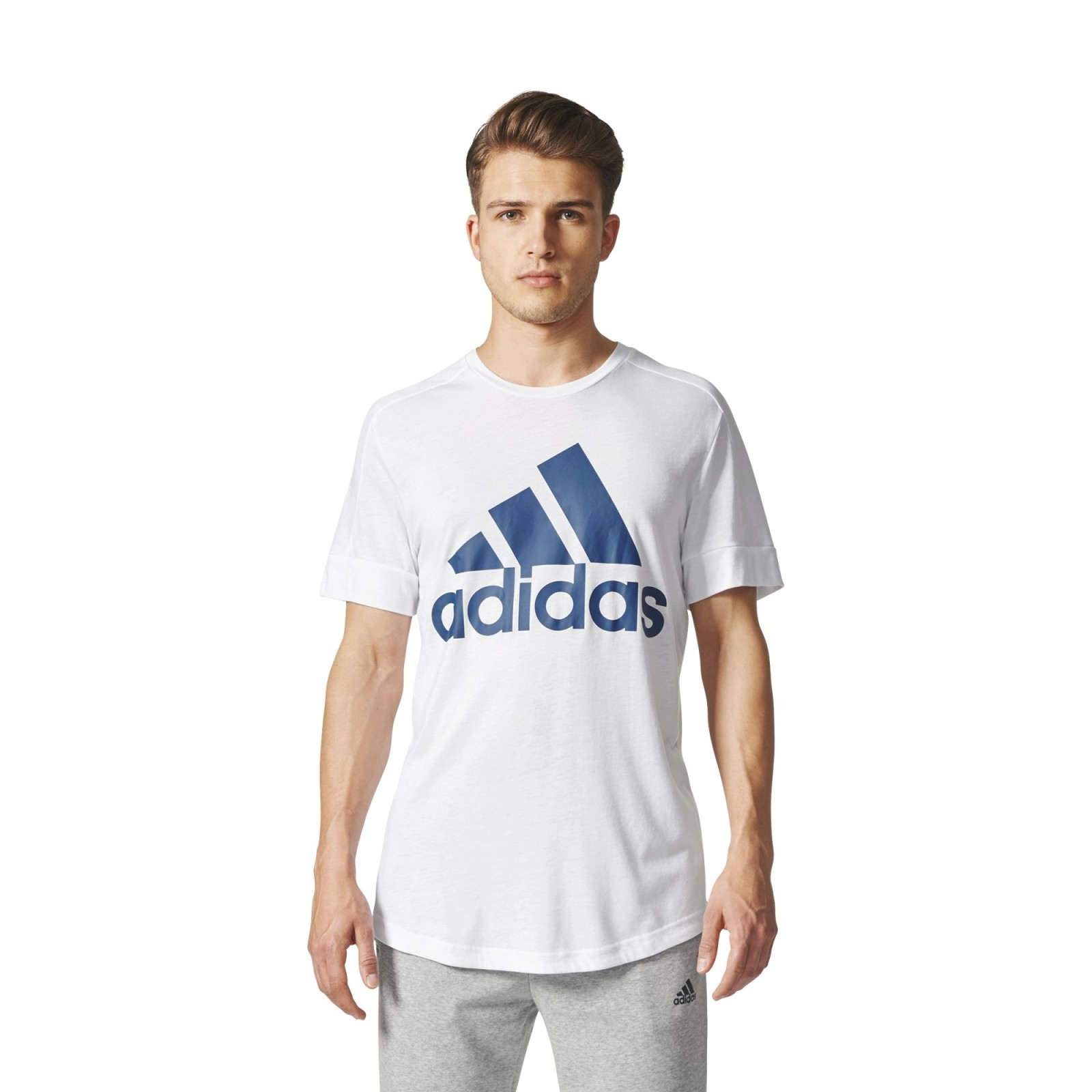 Pánské tričko adidas Performance ID BOS TEE WHITE BLUNIT - Glami.cz cd6dfbd250b