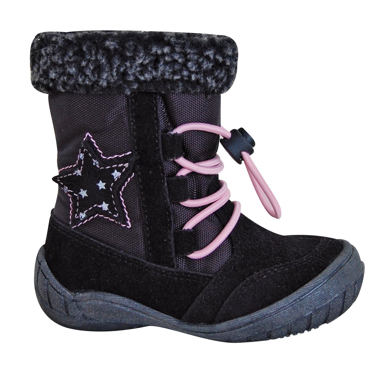 61185f5a10 Protetika Dievčenské zimné topánky SIERA - čierne - Glami.sk