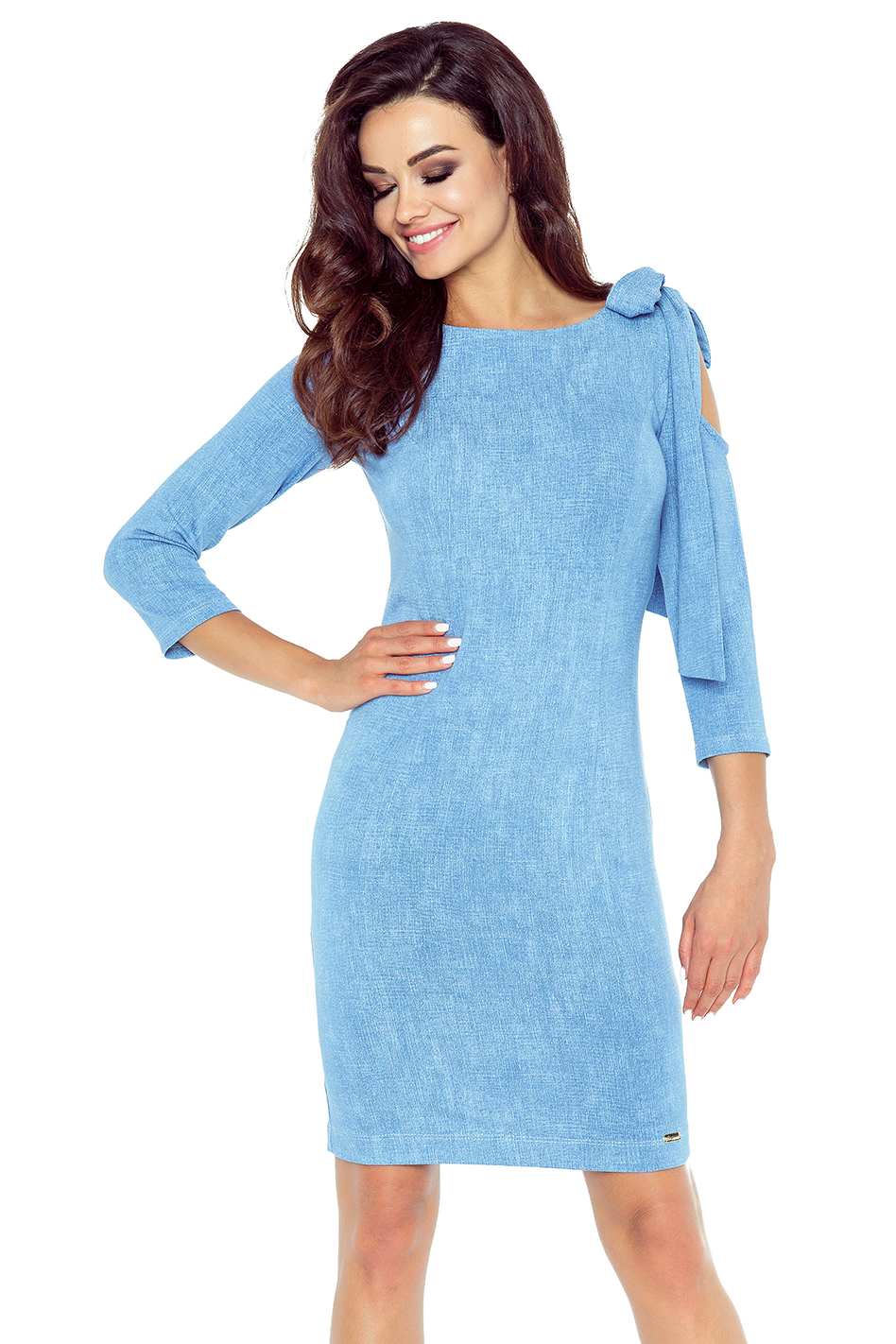 e17bcefdd16f Bergamo Světle modré šaty Chica - Glami.cz