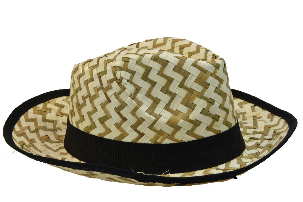 Pánský slaměný letní klobouk s černým lemem - Glami.cz 6d12f47f2f