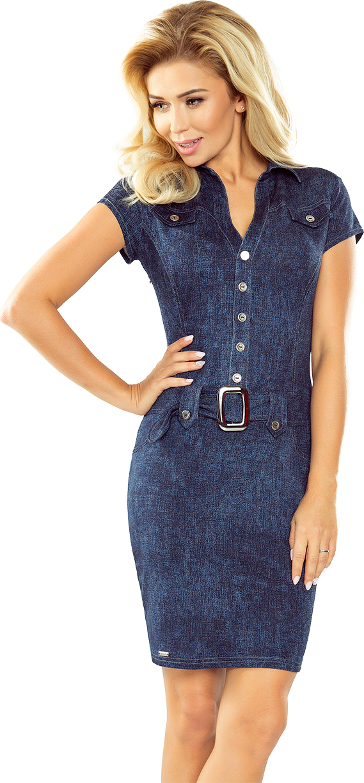 9a64c666904d NUMOCO Upnuté džínsové šaty s gombíkmi 142-5 - Glami.sk