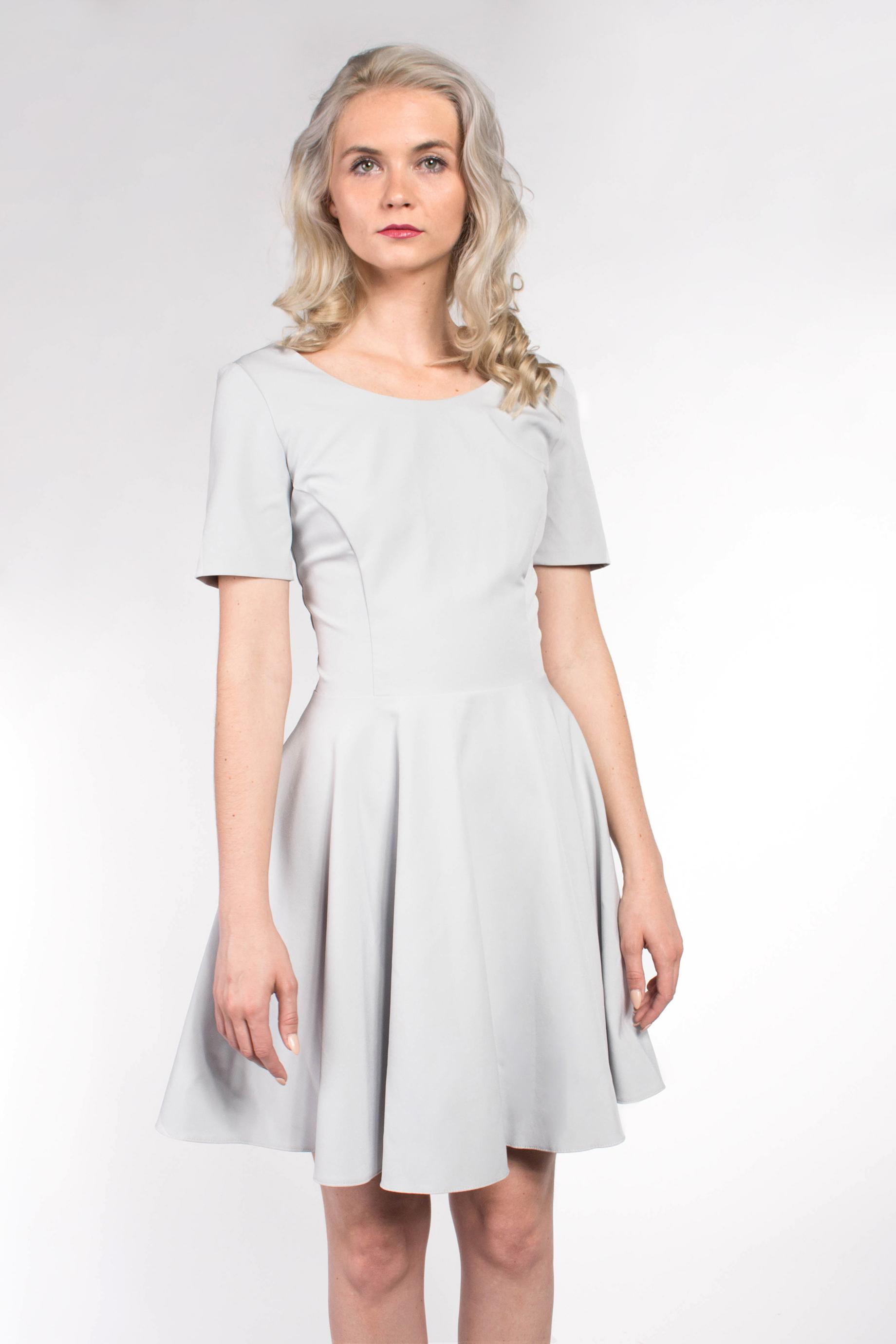 dd86a1581cfd iné Mohito modré šaty s krátkym rukávom - Glami.sk