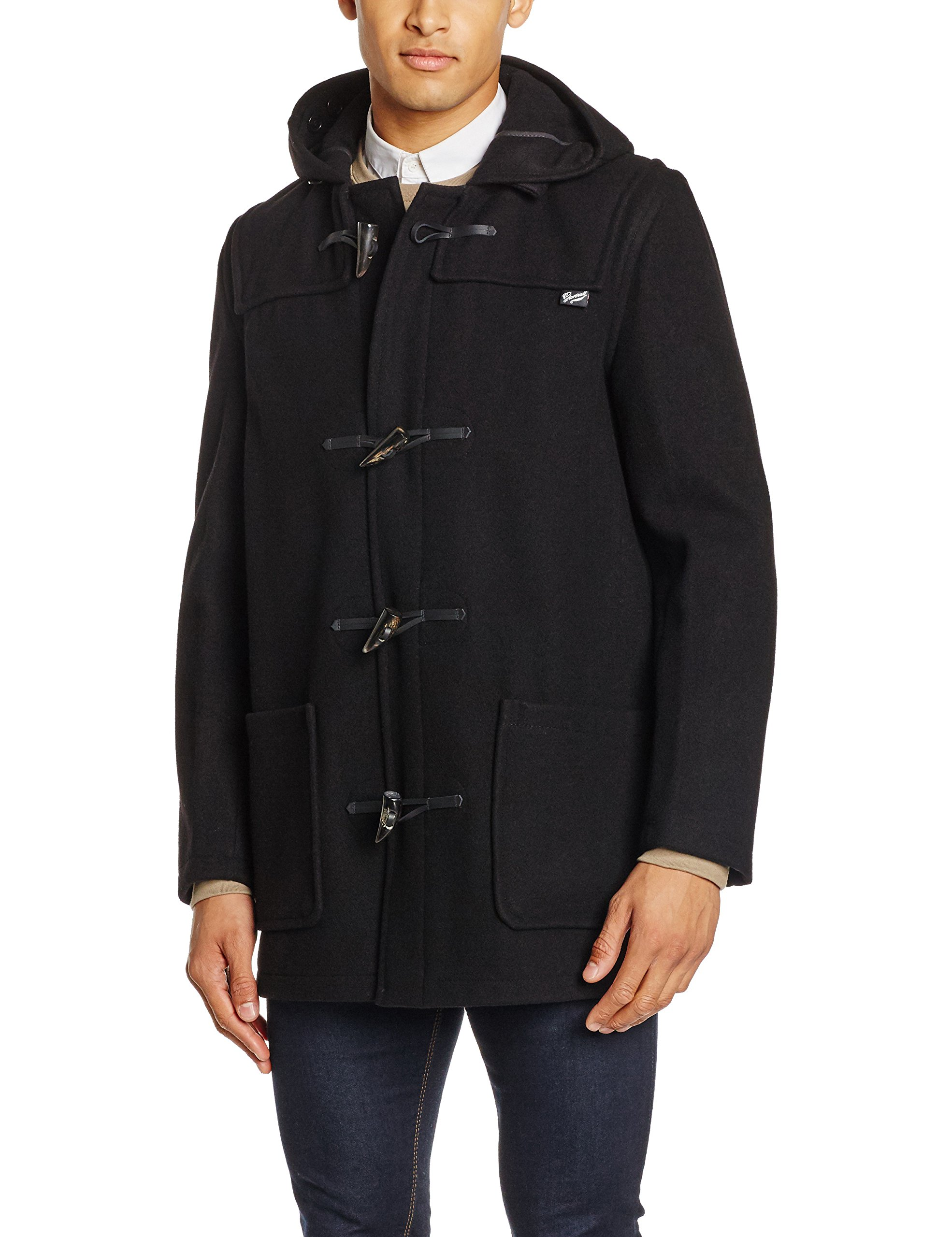 54 Homme Fabricant Classic Duffle taille Manteau Gloverall Manches Coat bordeaux 44 Rouge Longues 8XUw8