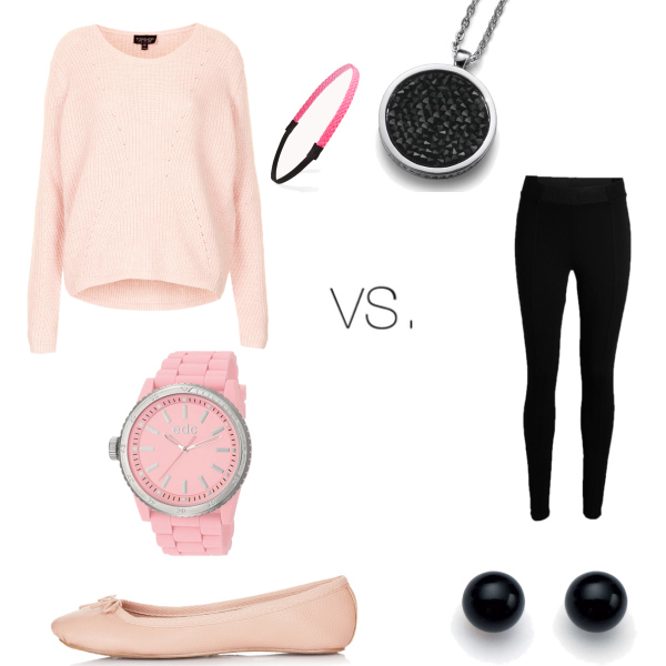 Outfit by my Sis :D Pink VS. Black