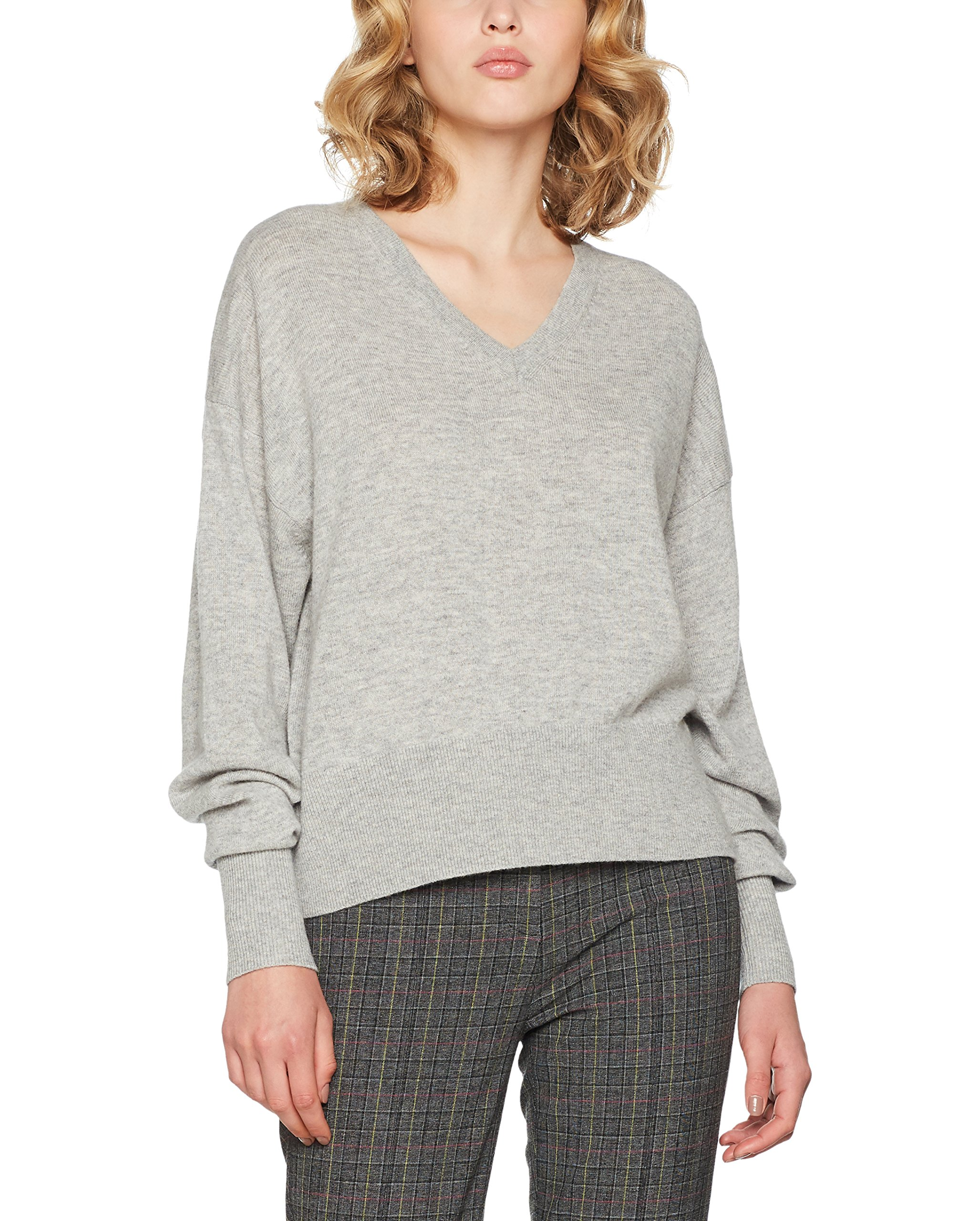 e33c4091c5639 Tommy Hilfiger Gwynie V-Nk Swtr, Pull Femme, Gris (Light Grey Htr 039), 40  (Taille fabricant  Large)