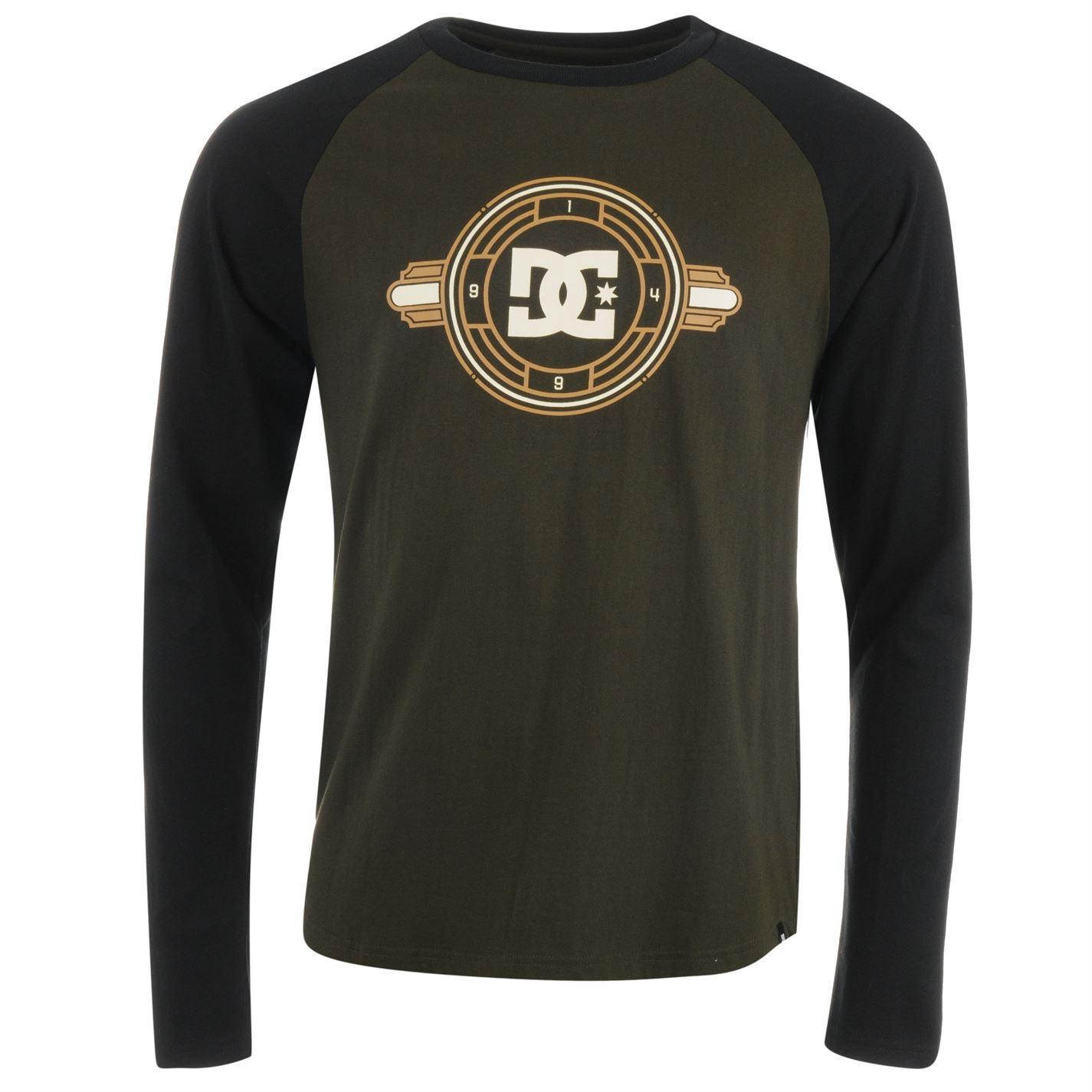 Pánske tričko DC Raglan Long Sleeve T Shirt Mens - Glami.sk 9bbafff846