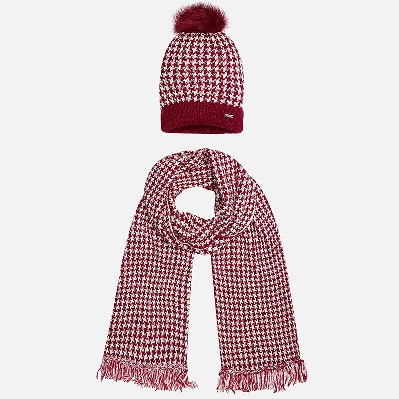 21a39eeb3 MAYORAL zimný set čiapka + šál 10322-023 wine - Glami.sk