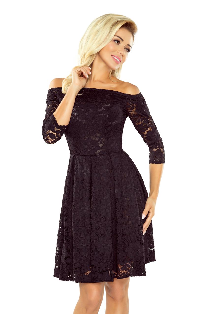 Strikingstyle 168-1 Krajkové šaty s odhalenými ramenami Numoco  čierne. 1 f9f1cf8b7d1