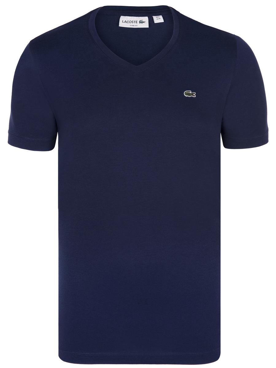 Tmavě modré elegantní tričko od Lacoste - Glami.cz 5946ec9d54
