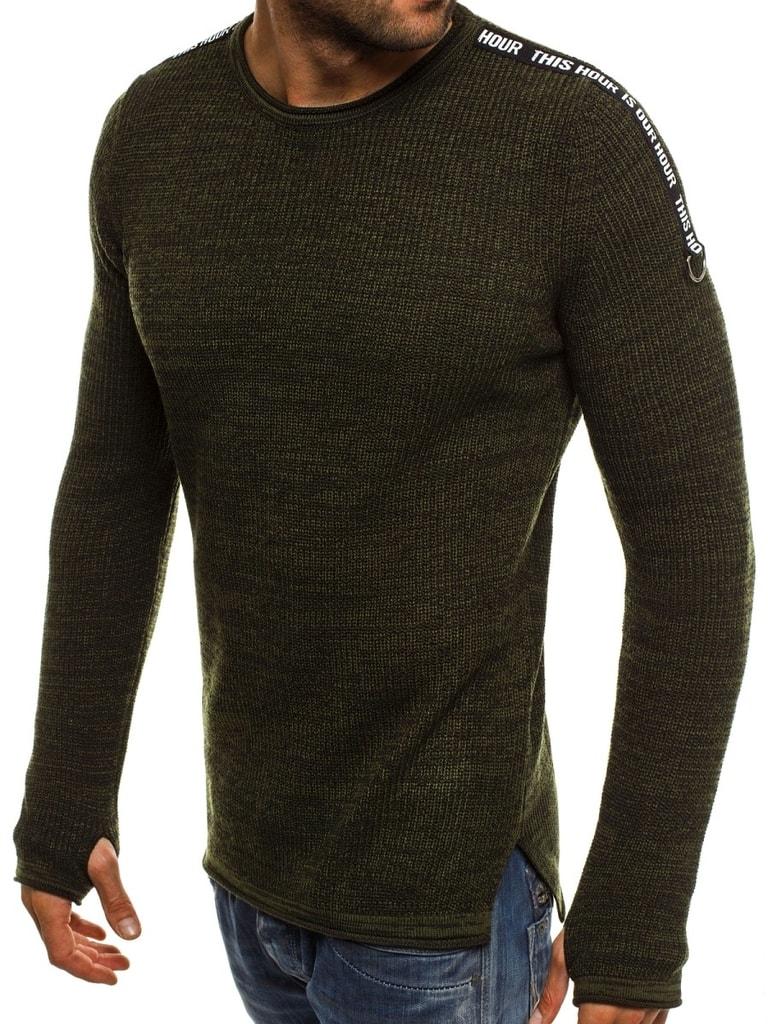 Zöld kötött pulóver BREEZY 9040 - Glami.hu 16d0df205f