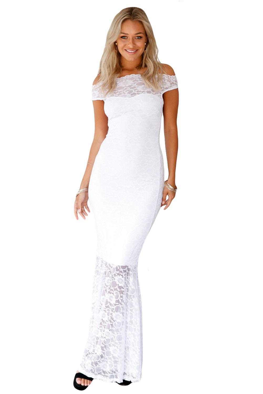 OEM Společenské krajkové šaty bílá bílá XL - Glami.cz 8865fe9ce09