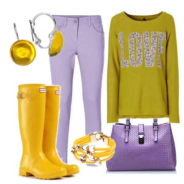 žlutá a fialová