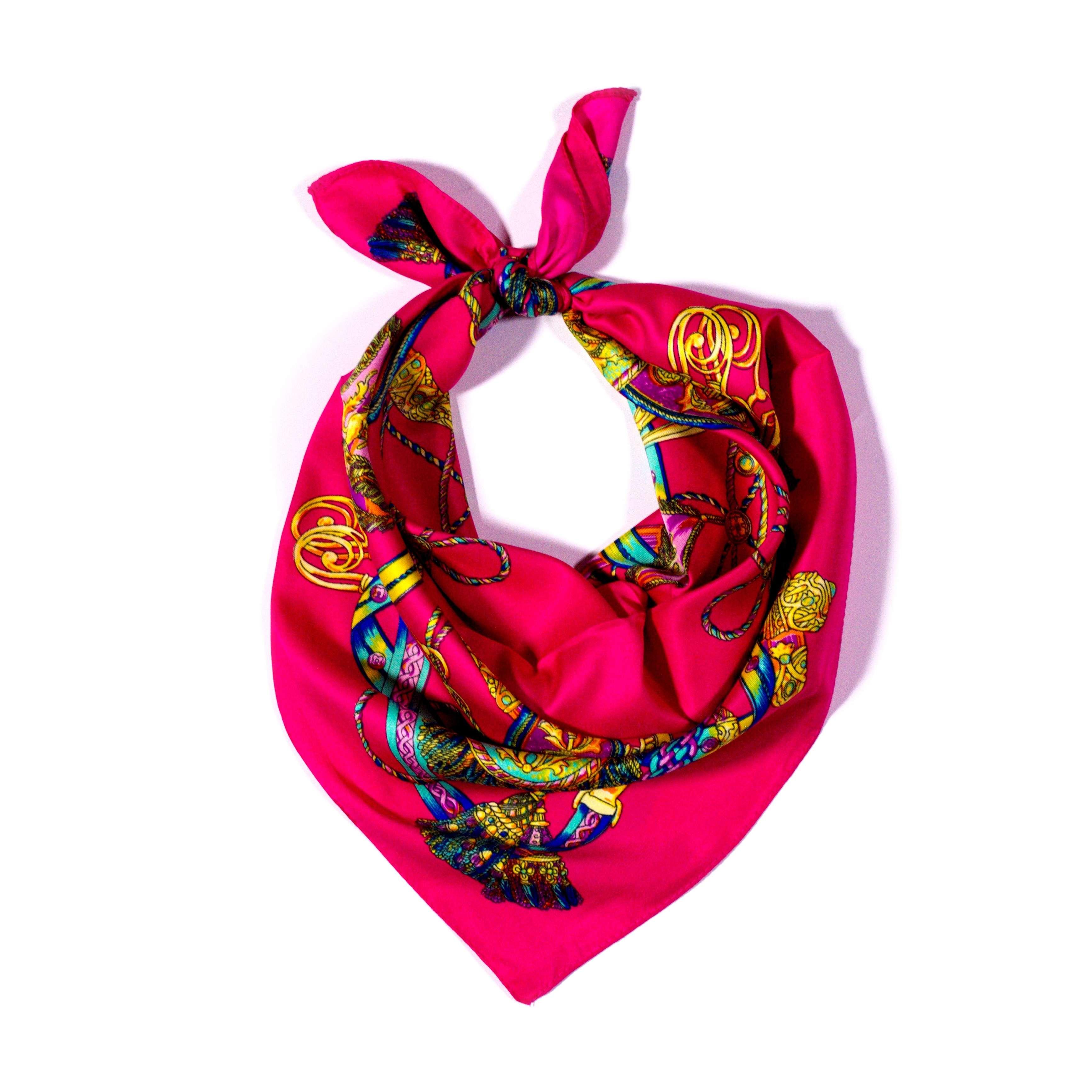 379281cbce9 Y-wu Čtvercový šátek na krk vzor 60cm 60cm