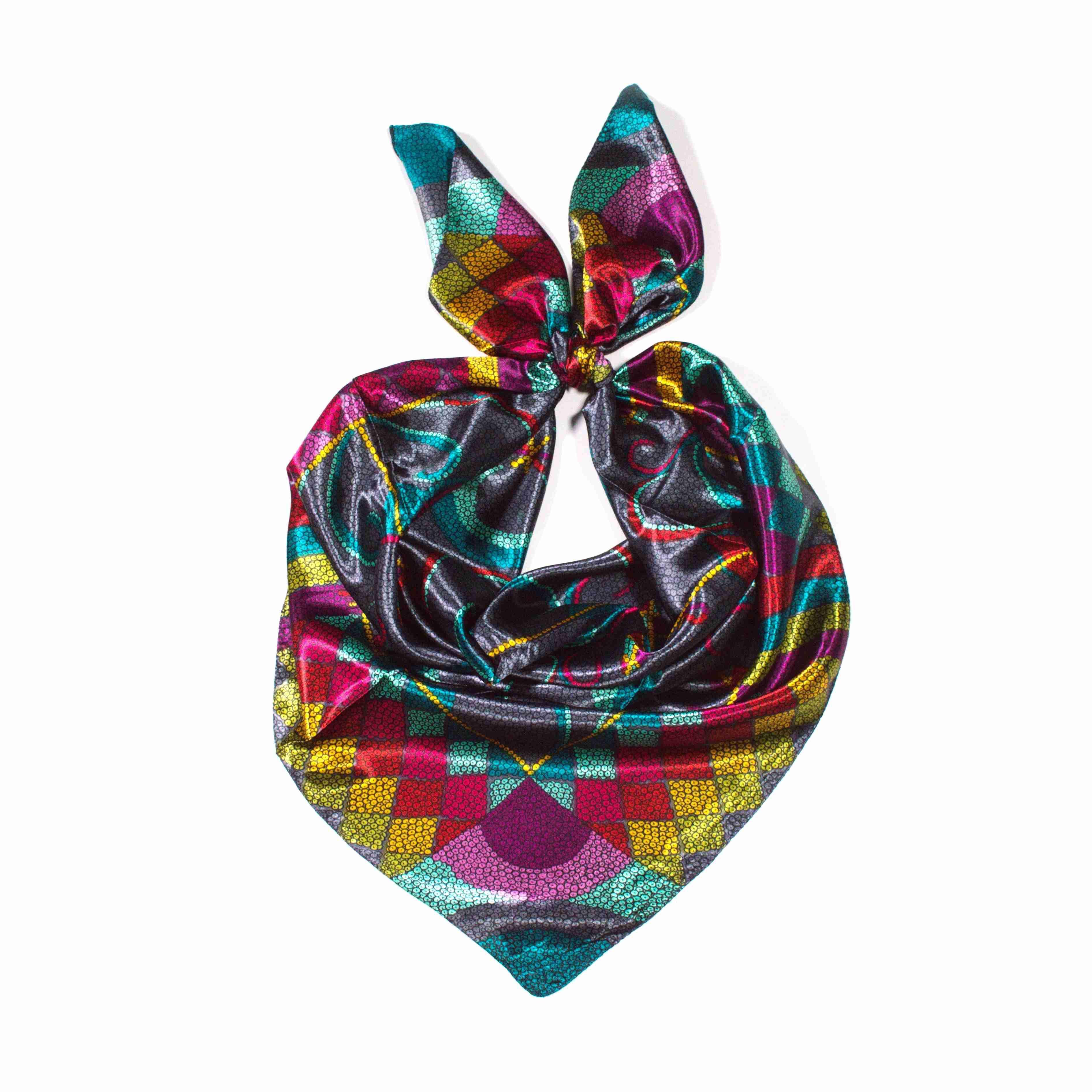 Y-wu Saténový šátek na krk čtvercový 90cm   90cm 8B1-121734 59db44e5a0