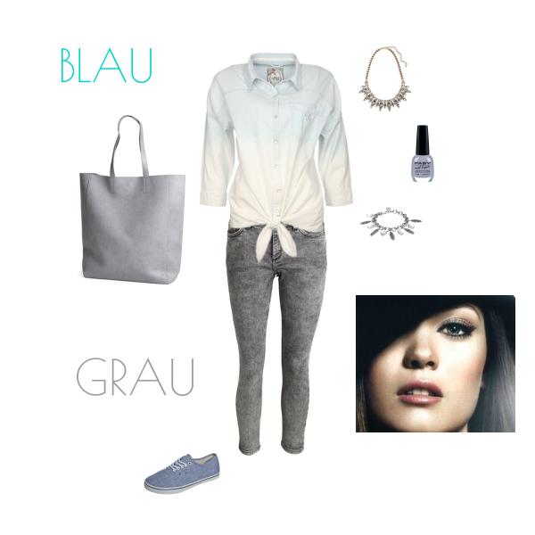 Grau und Blau