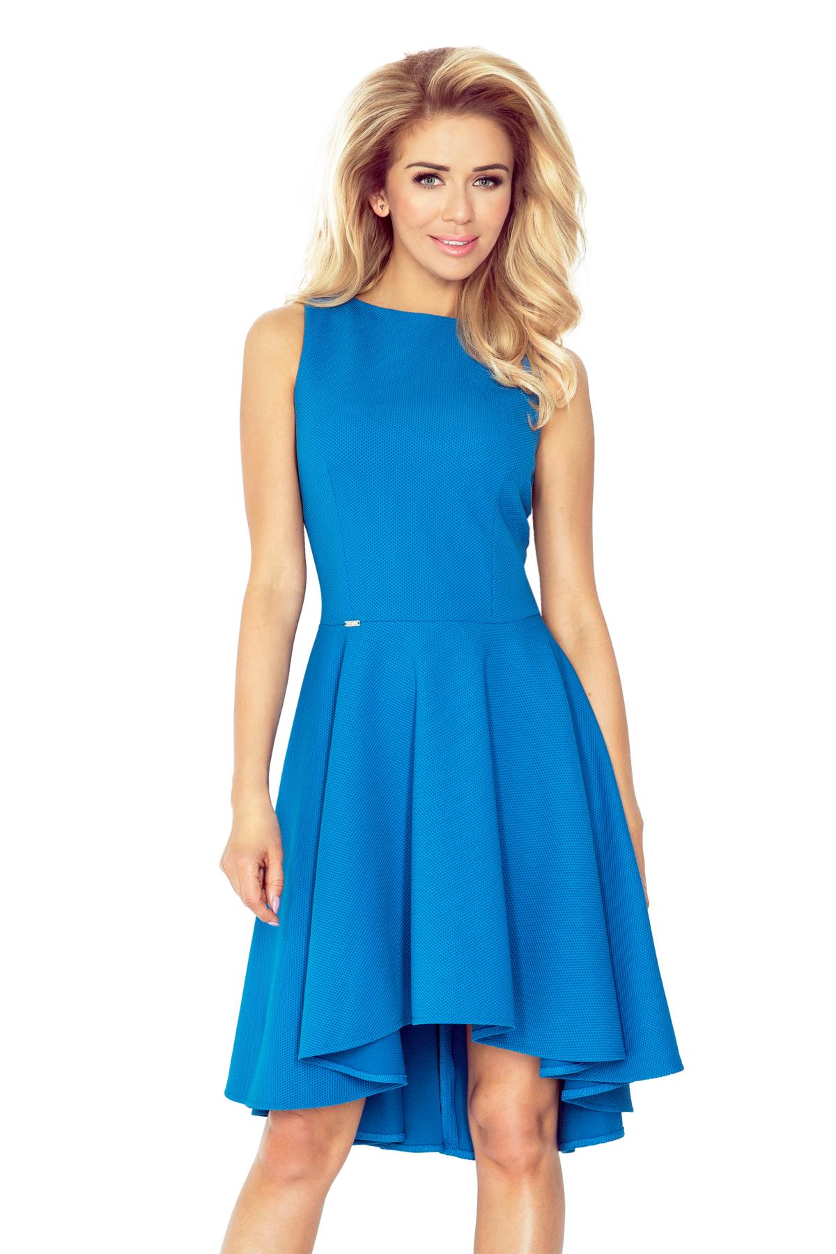 numoco Luxusní dámské společenské a plesové šaty s asymetrickou sukní  modré. 1 294c676ae0