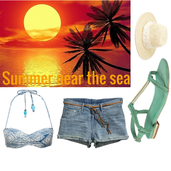 Summer near the sea