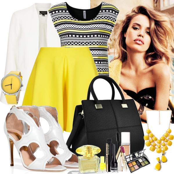 black yellow white set