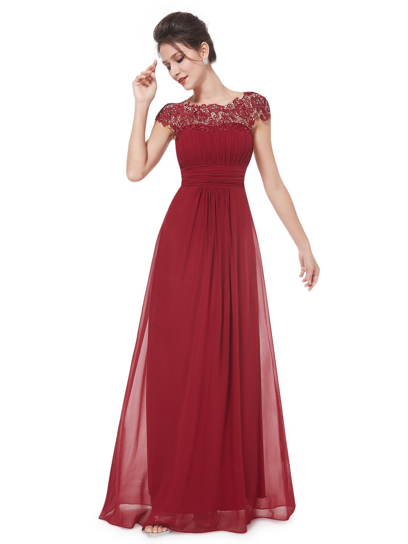 Ever-Pretty Vínově červené krajkové šaty - Glami.cz 495a8672649