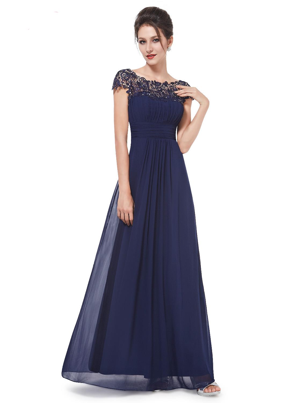 Ever-Pretty Námořnicky modré krajkové šaty - Glami.cz 911359e7394