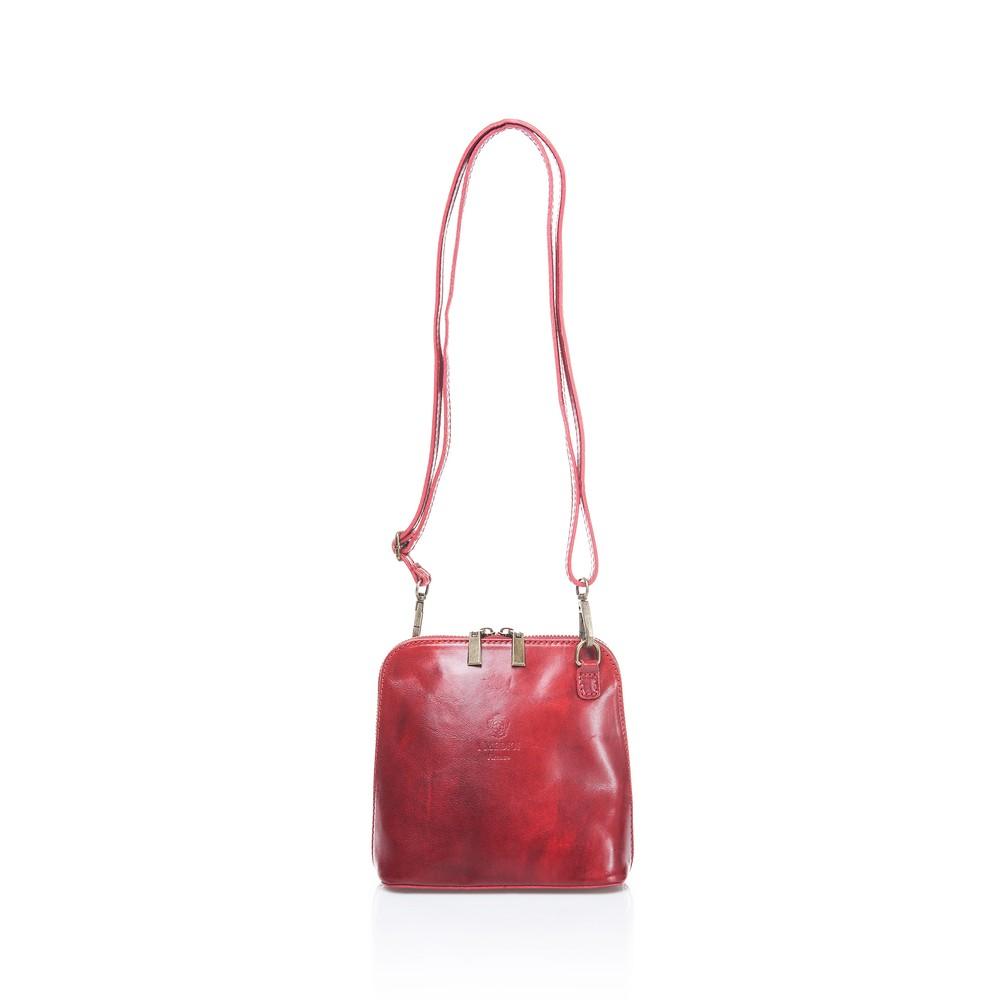 59c1d448ef Červená kožená dámska kabelka Medici of Florence Francesca - Glami.sk