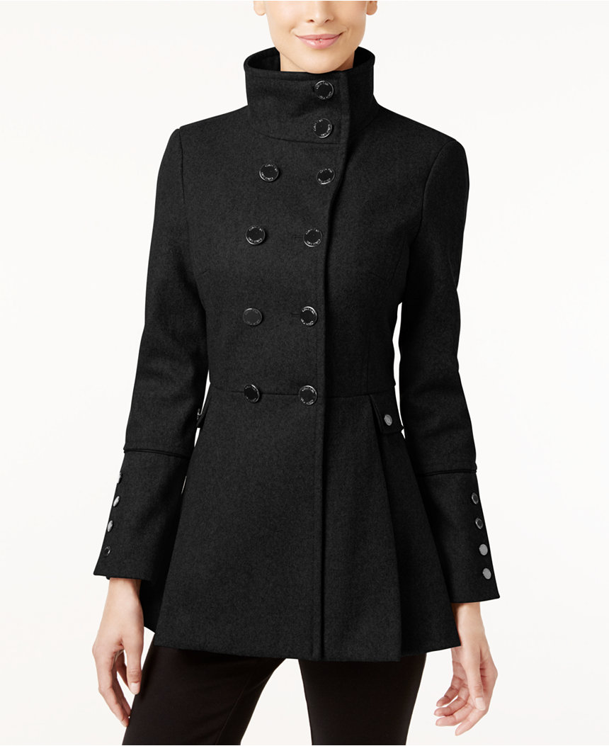 Dámský vlněný kabát Calvin Klein Skirted Coat - Glami.cz 25686d6c66