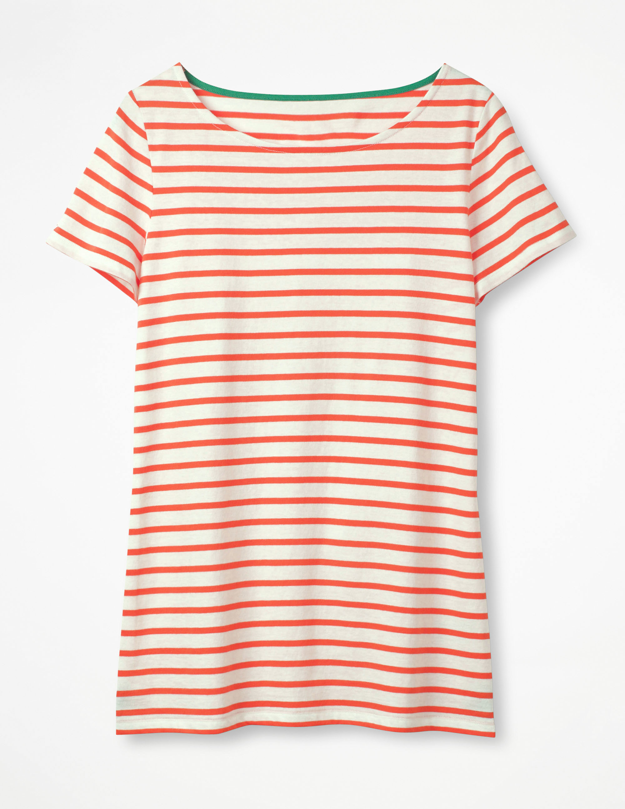 Langärmliges Bretonshirt Orange Damen Boden 38 LiseKFFC