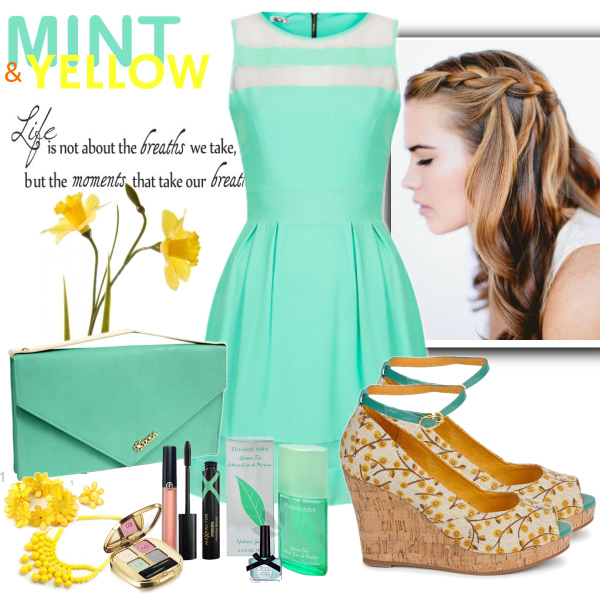 mint & yellow