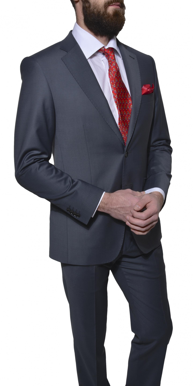 9849d7b9c8 Alain Delon Šedý Slim Fit oblek - Glami.cz