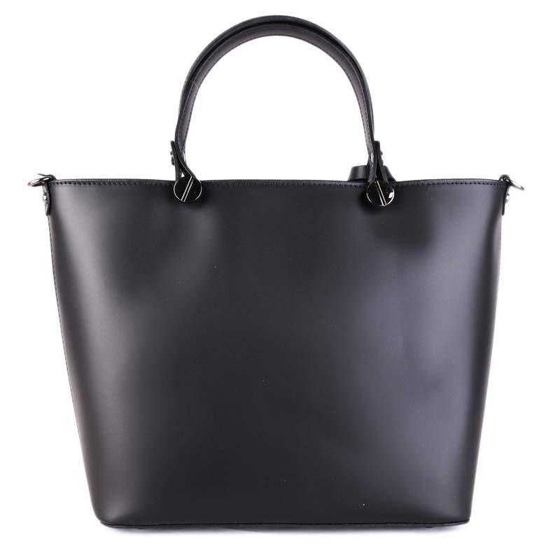 Talianske kožené kabelky luxusné do ruky Merana čierne stredné ... 5d3164b0241
