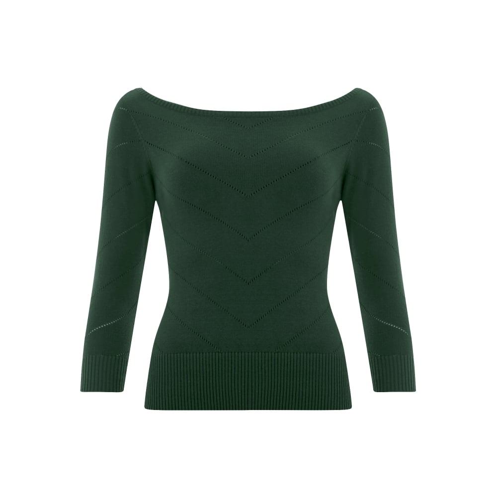 9c217899274 ... COLLECTIF Dámský svetřík Bardot zelený. -100 Kč COLLECTIF ...